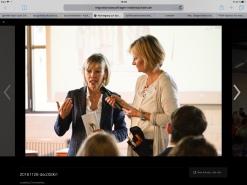 Frau Schröder-Kopp im Gespräch mit Tanja Föhr